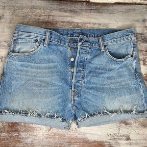 VTG Levi's high waisted button fly jean shorts